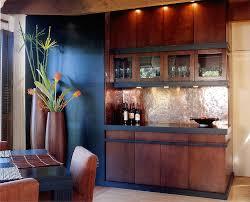 Copper Backsplash For Kitchen Kitchen Copper Backsplash With Big Wooden Vase Also Dining Chair