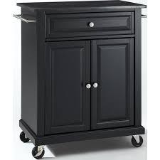 Crosley Furniture KF30024EBK Solid Black Granite Top Portable