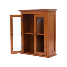 wall storage cabinet with double doors