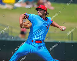 Memphis pitcher Austin Warner 73 action during Editorial Stock Photo -  Stock Image | Shutterstock