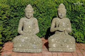 natural stone seated buddha garden statues