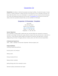 Free Example Of A Resume Carpenter Resume Example Nicetobeatyoutk 45