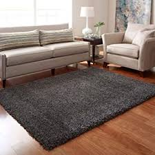 dark grey 120 x170cm fluffy anti skid thick plain soft gy living room rug bedroom