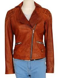 retro brown jacket brown women leather jacket