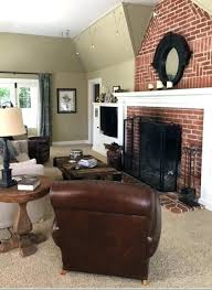wall color with brown furniture living room