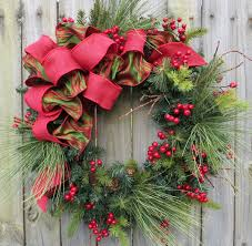 Divine Image Of Christmas Decoration With Christmas Wreath With Holiday Wreaths Ideas
