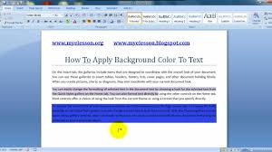 Add Background Color To Text In Word