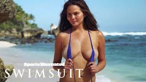 Girl taking off their bikini