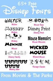 Disney Font 65 Free Disney Fonts From The Movies Parks Your
