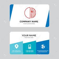 Simple Business Card Design Template Simple Chart Business Card Design Template Visiting For Your