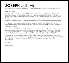 Teacher Cover Letter Sample Ag Teacher Cover Letter Sample Cover Letter Templates Examples
