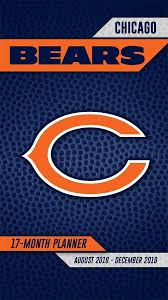 Turner Design Chicago Turner Licensing Chicago Bears 2018 19 17 Month Planner 19998890537