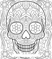 Day Of The Dead Skull Coloring Page Colouring Pages Sugar Skull