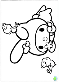 My Melody Colouring ぬり絵サンリオぬりえ