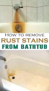 porcelain bathtub rust repair diy home cleaners