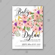 Mothers Day Card Template Impressive Anemone Baby Shower Floral Invitation Watercolor Luau Aloha Wreath