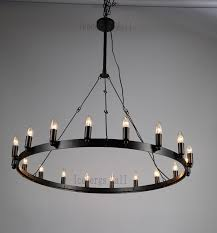 round candle chandelier amazing pillar 32 throughout 4