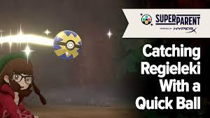 Pokemon Sword and Pokemon Shield: The Crown Tundra - Catching Regieleki  With a Quick Ball - YouTube