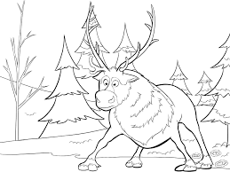 Small Picture Frozen Coloring Sven As A Cub Games And Pages Online esonme