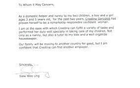 Reference Letter Child Care Nanny Magnificent Sample Truck Driver