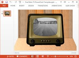 tv powerpoint templates how to play video inside a tv image in powerpoint