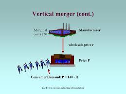 Vertical Merger Example Ec 171 Topics In Industrial Organization Ppt Download