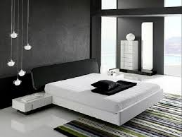 black white style modern bedroom silver. The Lovely Silver Lamps Style In A Grey Wall Painting And White Bed Cover Modern Bedroom Color Schemes Black O