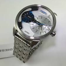men s diesel mini daddy dual time oversized watch dz7305