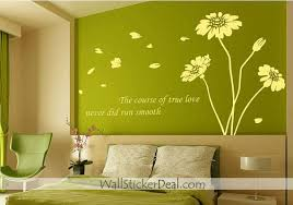 the course of true love never did run smooth sunflower wall  the course of true love never did run smooth sunflower wall sticker