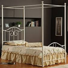 Bedroom: Outstanding White Iron Canopy Bed Your Home Idea ...