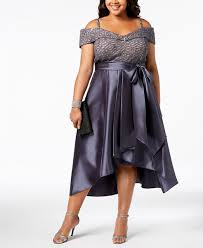 2019 Elegant R M Richards Mother Of The Bride Dresses Plus Size High Low Sequins Lace Bow Off The Shoulder Dress Evening Party Gowns Classy Mother Of