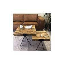 coffee table set of 2 rimini with mango