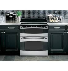 "ge profileâ""¢ slide in double oven electric range ps978stss ge product image"