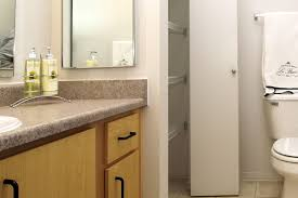 lit bathroom at center pointe apartment homes in beaverton oregon
