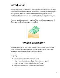 Money Management for Self Advocates Workbook