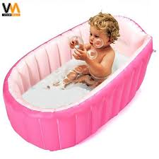 intime plastic baby inflatable bath tub pink