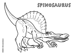 Small Picture Spinosaurus clipart coloring page Pencil and in color
