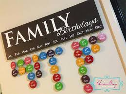 birthday wall calendar family and friends pastel colours