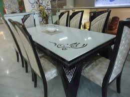 Fancy Marble Top Dining Table Set