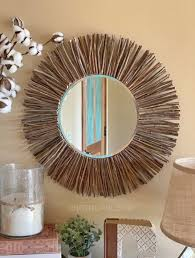 easy diy stick framed mirror a