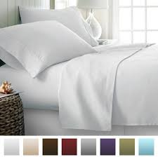 ienjoy home hotel collection luxury soft brushed bed sheet set hypoallergenic deep pocket queen white souq uae