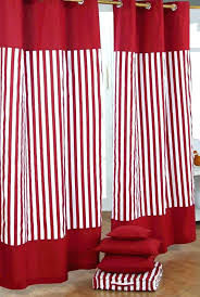 chic inspiration red and white striped curtains curtain panels amazing