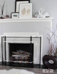 houzz fireplace screens 3 panel fireplace screens modern fireplace screens