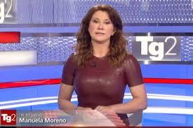 Manuela Moreno scalda il Tg2 - Tv - quotidiano.net