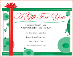 How To Word A Gift Certificate word gift certificate template bio example 1