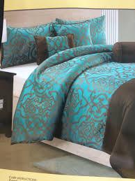 dark teal dark brown comforter set queen size m m home staging furniture als
