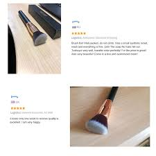 docolor 1pc large foundation brush professional make up wood handle soft synthetic hair tools