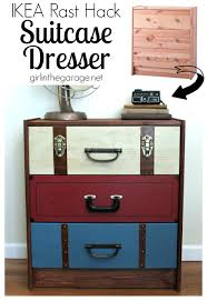 hack ikea furniture. IKEA RAST Hack: A Suitcase Dresser Makeover From An Chest Of Drawers. Girlinthegarage Hack Ikea Furniture