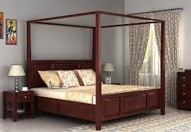 four poster bedroom furniture. Attica Poster Bed Without Storage (Queen Size, Mahogany Finish) Four Bedroom Furniture A