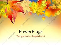 light orange backgrounds for powerpoint. PowerPoint Template Displaying Red And Orange Autumn Leaves On Light Background Backgrounds For Powerpoint